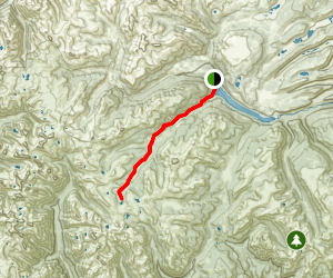 Ute Creek Trail to Twin Lakes Map