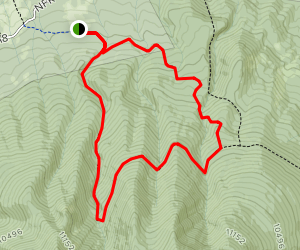 Abineau Trail to Bear Jaw Trail [CLOSED] Map