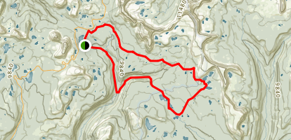 Duchesne River Trail to Four Lakes Basin to Highline Trail Loop Map