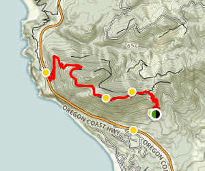 Oregon Coast Trail to Neahkahnie Mountain Map