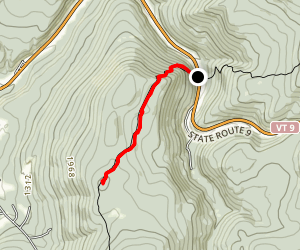 Harmon Hill via Long Trail (Appalachian Trail) Map