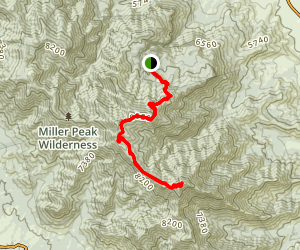 Miller Peak from Ramsey Vista Campground Map