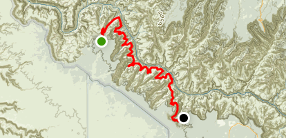 South Bass to Hermits Rest via Tonto West Map