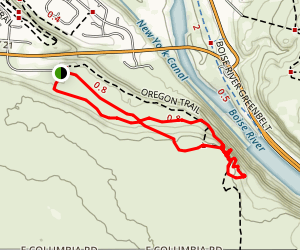 Cliffside & Upper Flat Trail Map