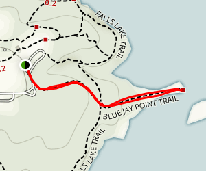 Blue Jay Point Trail Map