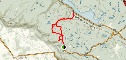 Champlain Lookout Trail Map