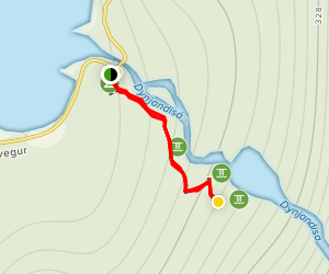 Dynjandi Fjallfoss Trail Map