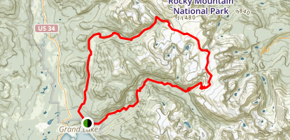 Big Meadow and Ptarmigan Pass Loop Trail Map