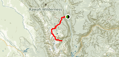 Rawah Trail Map