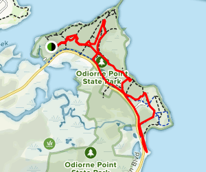 Odiorne Point Loop Trail Map