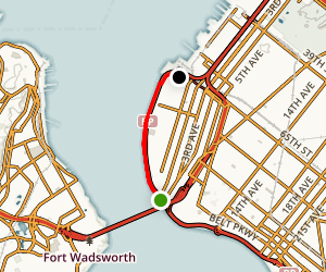 Shore Road Greenway from Fort Hamilton to Owl's Head Park Map