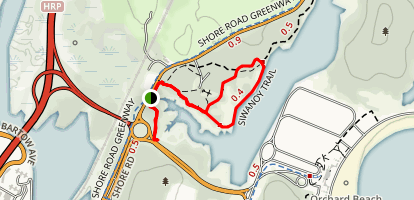 Siwanoy Trail Loop Map