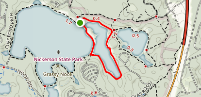 Little Cliff Pond Trail Map
