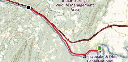 Chesapeake and Ohio Canal Trail Map