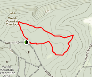 Welsh Mountain Nature Preserve Map
