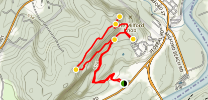 Milford Knob Trail Map