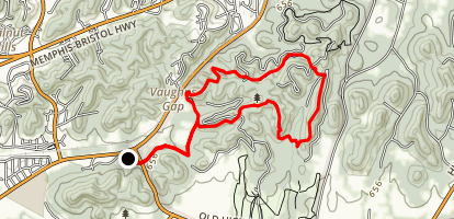 Mossy Ridge Trail Via Cane Connector Trail Map