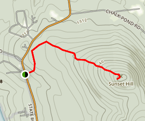 Sunset Hill Trail Map