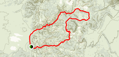 Losee Canyon to Casto Loop Trail Map