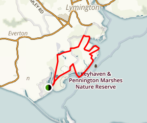 Keyhaven and Pennington Marshes Map