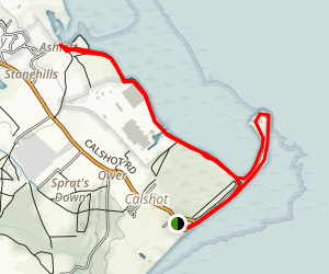 Calshot Beach Walk Map