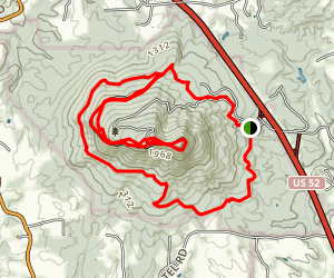 Mountain, Ledge Spring, and Grindstone Trail Loop Map