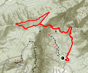 Aihualama and Pauoa Flats Loop Trail Map