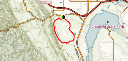 Two Brands Trail around Hildebrand Ranch Map