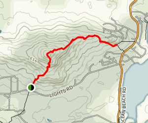 Mount Hallowell Trail Map