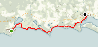 Bibbulmun Track: Peaceful Bay to Denmark Map
