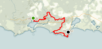 Bibbulmun Track: Walpole to Peaceful Bay Map