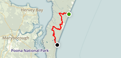Fraser Island Great Walk Map