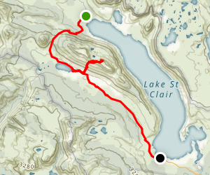 Cuvier Valley Mount Olympus Track Map