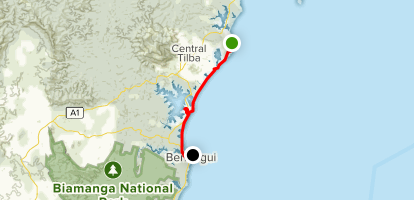 Mystery Bay to Bermagui Map