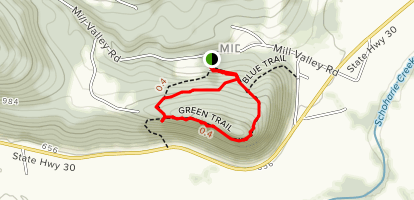 Vroman's Nose Loop Trail Map