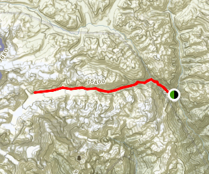 Green Lake Trek Map