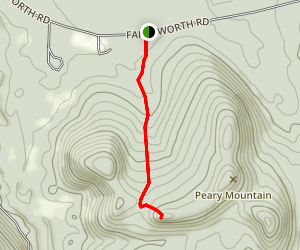 Peary Mountain Map