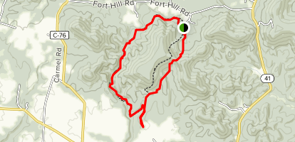 Ft. Hill Gorge Trail to Deer Trail Map