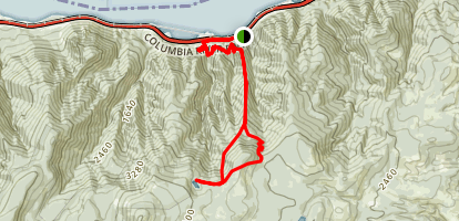 Starvation Ridge and Warren Lake Loop Trail Map