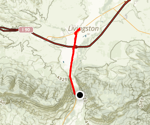 Paradise Valley: Livingston to Gardiner Map