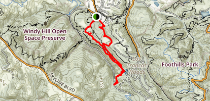 Arroyo and Toyon Trail Map