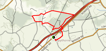Copythorne and Cadnam Common Walk Map