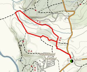 Godshill and Castle Hill Walk Map