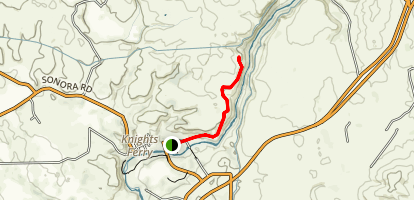 Stanislaus River Trail From Knights Ferry Map