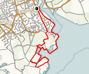 Lymington Marshes Trail Map
