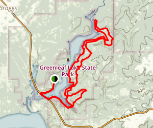 Green Leaf Trail Loop Map