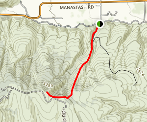 Manastash Ridge Trail Map