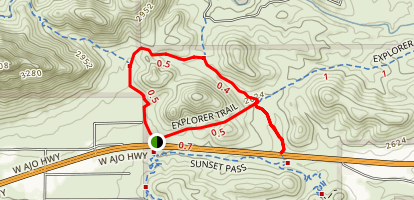 Robles Pass Loop Trail Map