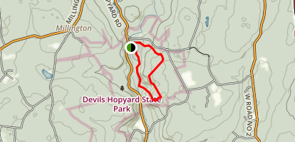 Devil's Hopyard Orange Trail Loop Map