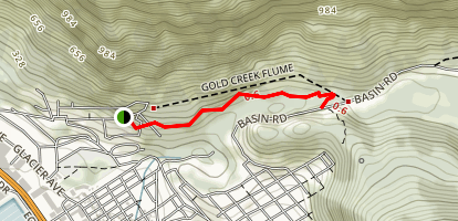 Gold Creek Flume Trail Map